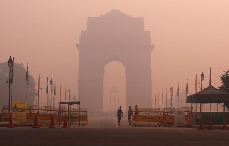 Image result for smog in Delhi