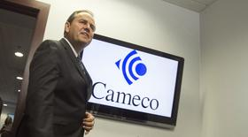 Cameco CEO Tim Gitzel speaks with the media after the company's annual general meeting in Saskatoon, Saskatchewan May 28, 2014. REUTERS/David Stobbe