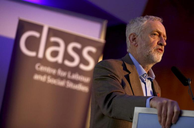 Britain's opposition Labour Party leader Jeremy Corbyn delivers a speech at a Centre for Labour and Social Studies (CLASS) event in London, Britain November 5, 2016. REUTERS/Neil Hall