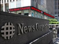 News Corp, le propriétaire du Wall Street Journal et de la maison d'édition HarperCollins, a fait état lundi d'un chiffre d'affaires trimestriel en baisse de 2,4%, en raison notamment de la baisse des recettes publicitaires dans la presse écrite. /Photo d'archives/REUTERS/Brendan McDermid