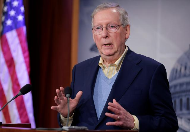 Senate Majority Leader Mitch McConnell (R-KY) speaks about the election of Donald Trump in the U.S. presidential election in Washington, U.S., November 9, 2016. REUTERS/Joshua Roberts