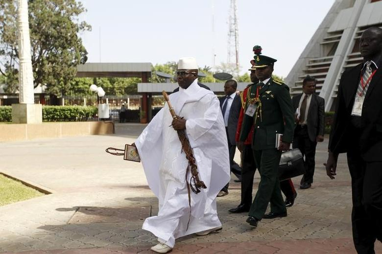 Gambia's President Yahya Jammeh arrives to the opening of the 48th ordinary session of ECOWAS Authority of Head of States and Government in Abuja, Nigeria, December 16, 2015 REUTERS/Afolabi Sotunde