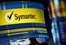 The Symantec booth is seen during the 2016 Black Hat cyber-security conference in Las Vegas, Nevada, U.S. August 3, 2016.  REUTERS/David Becker