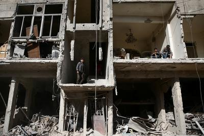 Rooms with a war-torn view