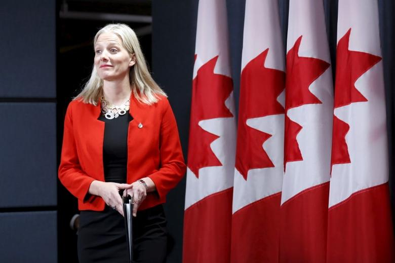 Canada's Environment Minister Catherine McKenna arrives at a news conference in Ottawa, Canada, January 27, 2016. REUTERS/Chris Wattie