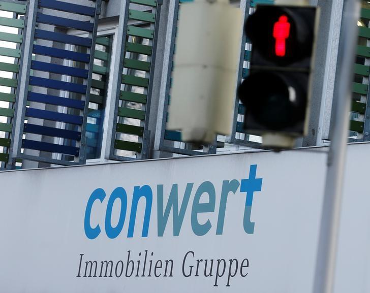 The logo of Austrian properties group Conwert is pictured at its headquarters in Vienna, Austria, March 9, 2016. REUTERS/Heinz-Peter Bader/File Photo