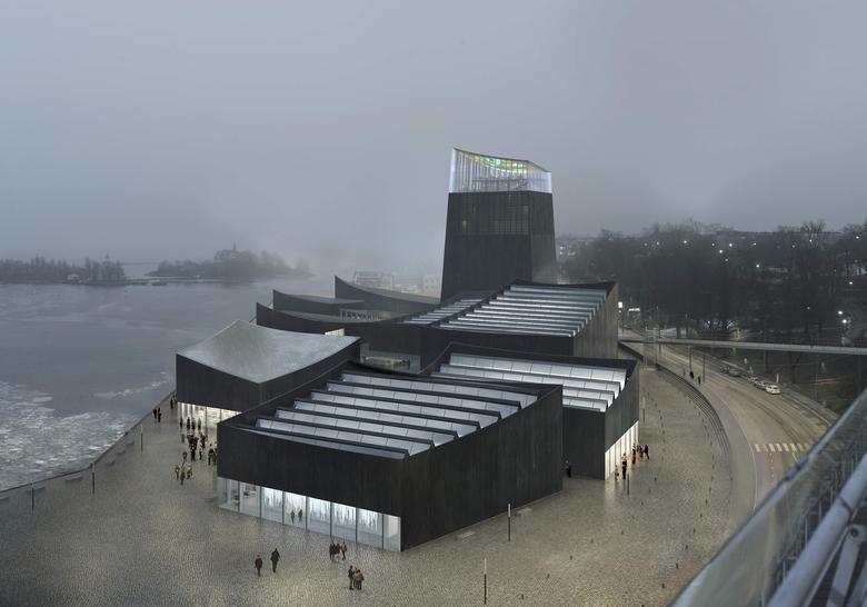 An undated artist's rendering shows a design of a planned new Guggenheim museum in Helsinki, Finland. Moreau Kusunoki/ArteFactoryLab/Guggenheim Foundation/Handout via REUTERS