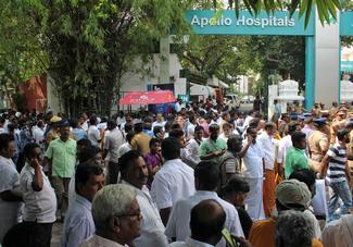 Supporters on edge as Jayalalithaa critical