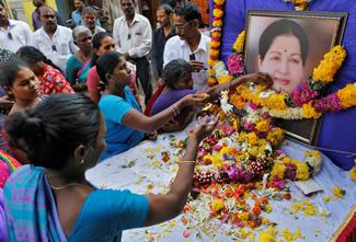 Mourning Jayalalithaa