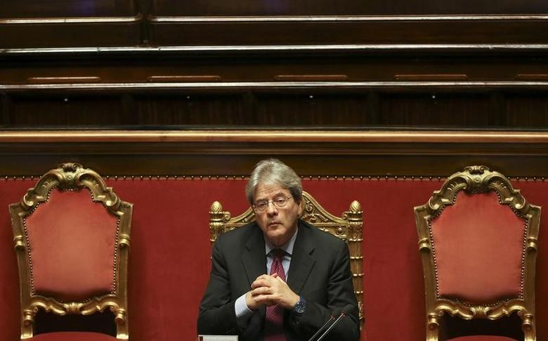 Italy's Foreign Minister Paolo Gentiloni attends a Senate meeting in Rome, Italy, April 5, 2016. REUTERS/Alessandro Bianchi/Files