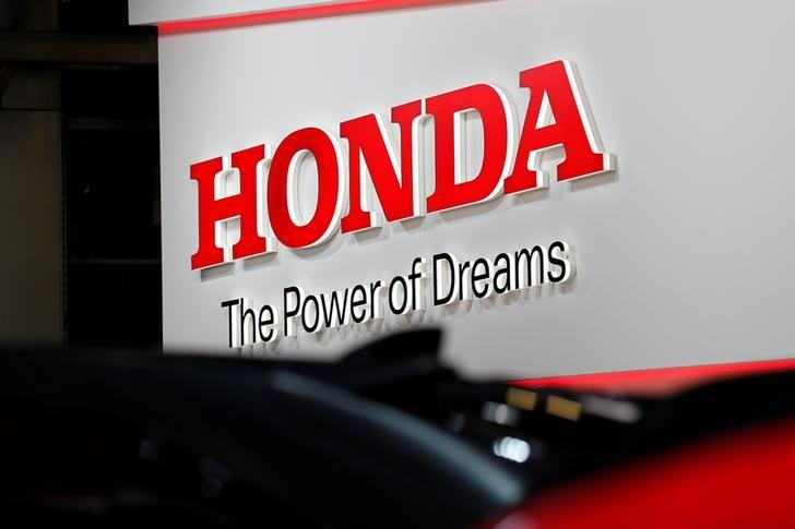 A Honda logo is seen on media day at the Paris auto show, in Paris, France, September 29, 2016. REUTERS/Benoit Tessier/Files
