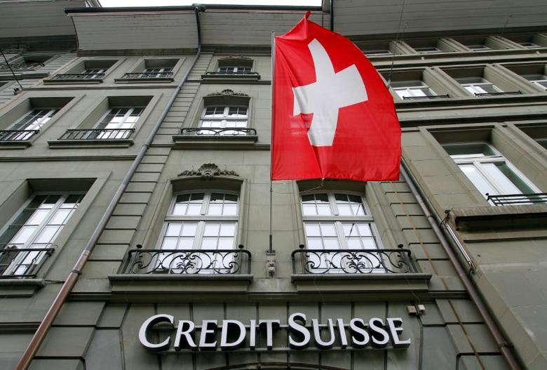 The logo of Swiss bank Credit Suisse is seen outside their branch in Bern, Switzerland May 9, 2016. REUTERS/Ruben Sprich