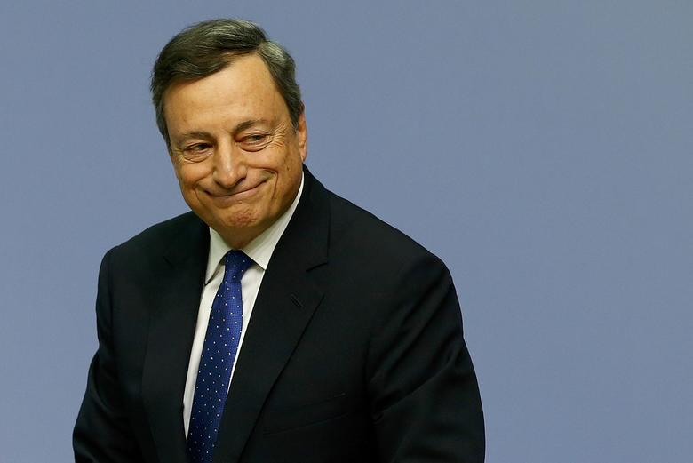 European Central Bank (ECB) President Mario Draghi walks after a news conference at the ECB headquarters in Frankfurt, Germany, December 8, 2016.  REUTERS/Ralph Orlowski