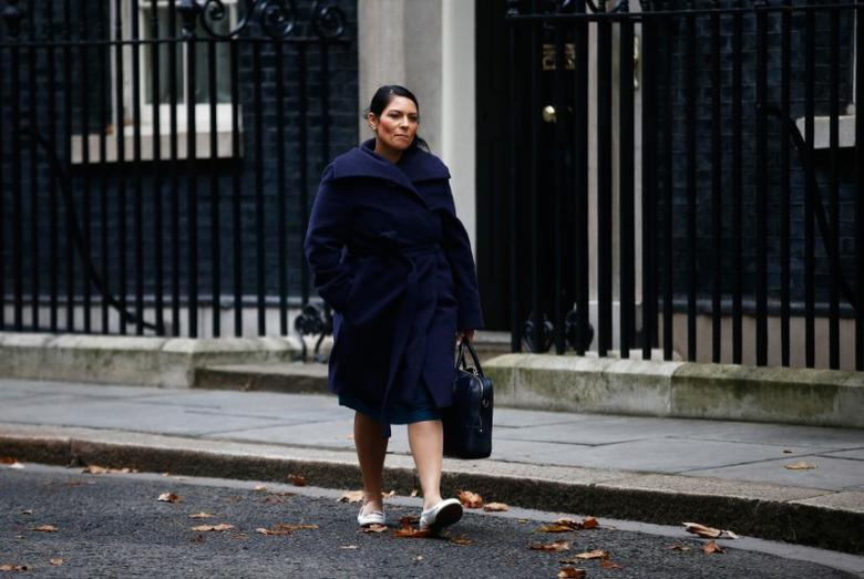 Britain's Secretary of State for International Development Priti Patel leaves 10 Downing Street in London, November 23, 2016.  REUTERS/Toby Melville
