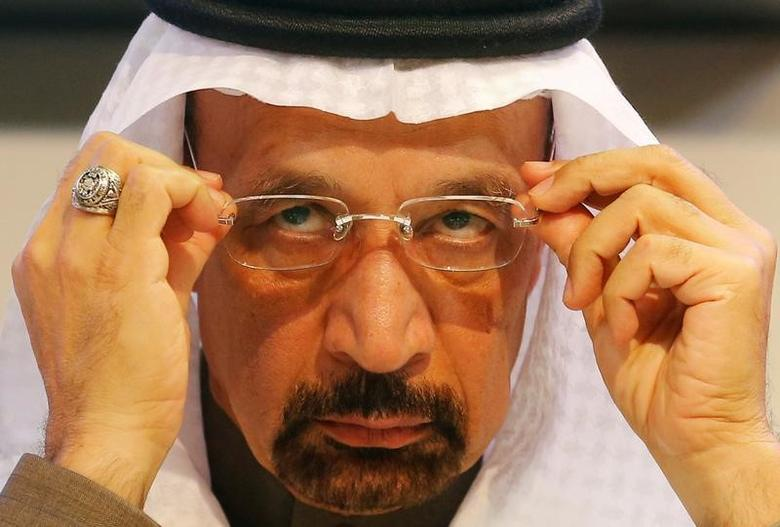 Saudi Arabia's Energy Minister Khalid al-Falih adjusts his glasses during a news conference after a meeting of the Organization of the Petroleum Exporting Countries (OPEC) in Vienna, Austria, December 10, 2016. REUTERS/Heinz-Peter Bader