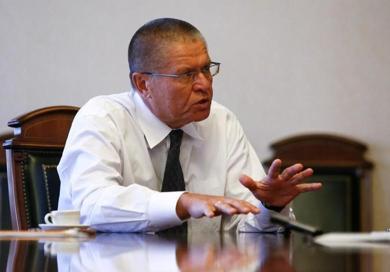 Then Russian Economy Minister Alexei Ulyukayev speaks during an interview with Reuters in Moscow, Russia, November 1, 2016. REUTERS/Sergei Karpukhin