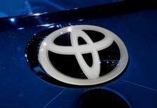 Logo de Toyota en la Feria del Automóvil de París, Francia, 29 de septiembre, 2016. Toyota Motor Corp dijo el sábado que un nuevo presidente ejecutivo se hará cargo de sus operaciones en Brasil desde el 2 de enero. REUTERS/Jacky Naegelen/File Photo