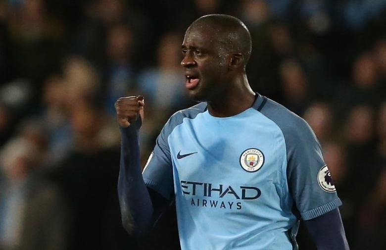 Manchester City's Yaya Toure celebrates scoring their first goal in the Hull City v Manchester City Premier League match on December 26, 2016.  Reuters / Scott Heppell Livepic