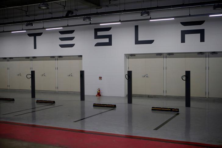 Tesla Destination Chargers that are currently under construction are seen at its planned store in Hanam, South Korea, December 22, 2016. REUTERS/Kim Hong-Ji