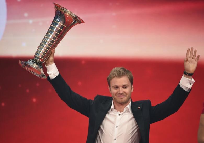 Mercedes' Formula One World Champion Nico Rosberg during the ''Ein Herz fuer Kinder'' (A Heart for Children) TV charity telethon in Berlin, Germany December 3, 2016. REUTERS/Britta Pedersen/Pool - RTSUJ5H