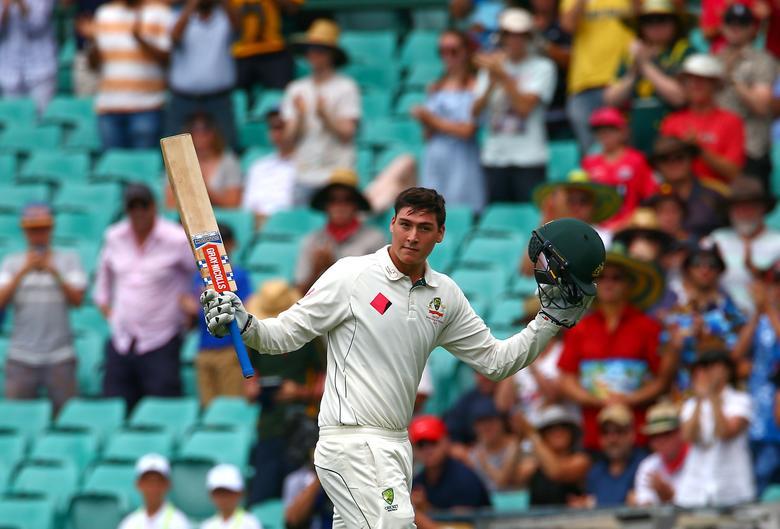 Cricket - Australia v Pakistan - Third Test cricket match - Sydney Cricket Ground, Sydney, Australia - 4/1/17 Australia's Matt Renshaw reacts as he walks off the ground after being dismissed for 184 runs. REUTERS/David Gray