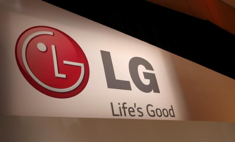 FILE PHOTO - The LG company logo is seen following an event during the annual Consumer Electronics Show (CES ) in Las Vegas, Nevada January 6, 2014. REUTERS/Robert Galbraith/File Photo