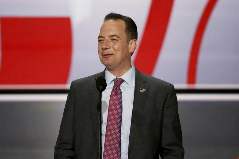 Reince Priebus at the Republican National Convention in Cleveland, Ohio, U.S. on July 17, 2016. REUTERS/Mike Segar/File Photo