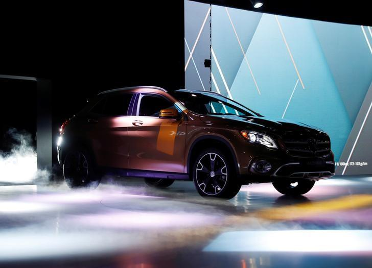 The new Mercedes-Benz GLA 250 is revealed during the North American International Auto Show in Detroit, Michigan, U.S., January 8, 2017.  REUTERS/Mark Blinch