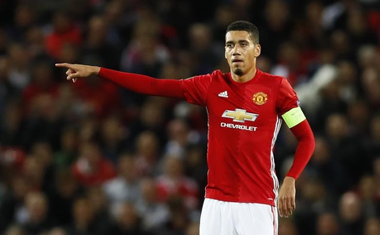 Manchester United's Chris Smalling Action Images via Reuters / Jason Cairnduff Livepic