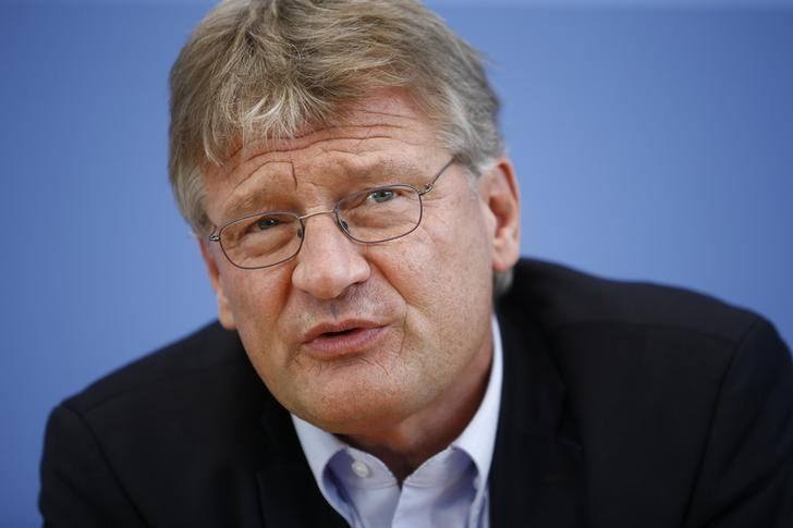 Anti-immigration party Alternative for Germany (AfD) leader Joerg Meuthen addresses a news conference at the Bundespressekonferenz in Berlin, Germany, September 19, 2016.    REUTERS/Axel Schmidt