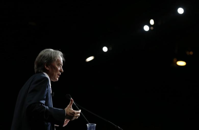 FILE PHOTO - Bill Gross speaks in Chicago, Illinois, June 19, 2014. REUTERS/Jim Young