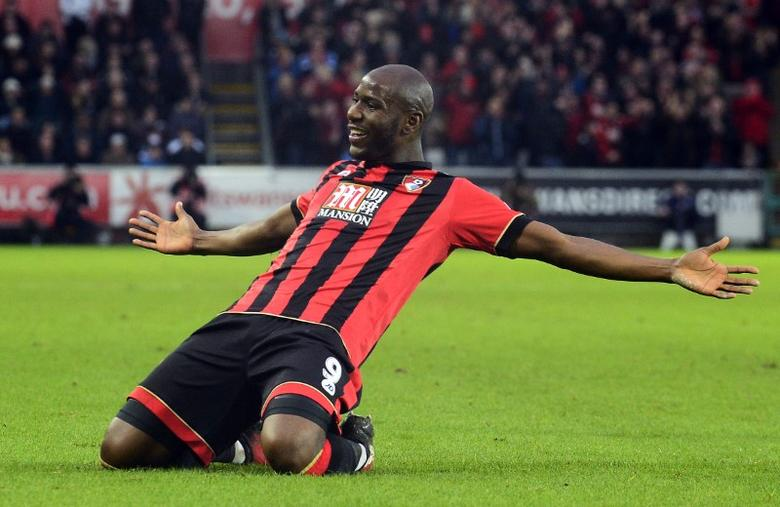 Britain Football Soccer - Swansea City v AFC Bournemouth - Premier League - Liberty Stadium - 31/12/16 Bournemouth's Benik Afobe celebrates scoring their first goal  Reuters / Rebecca Naden Livepic