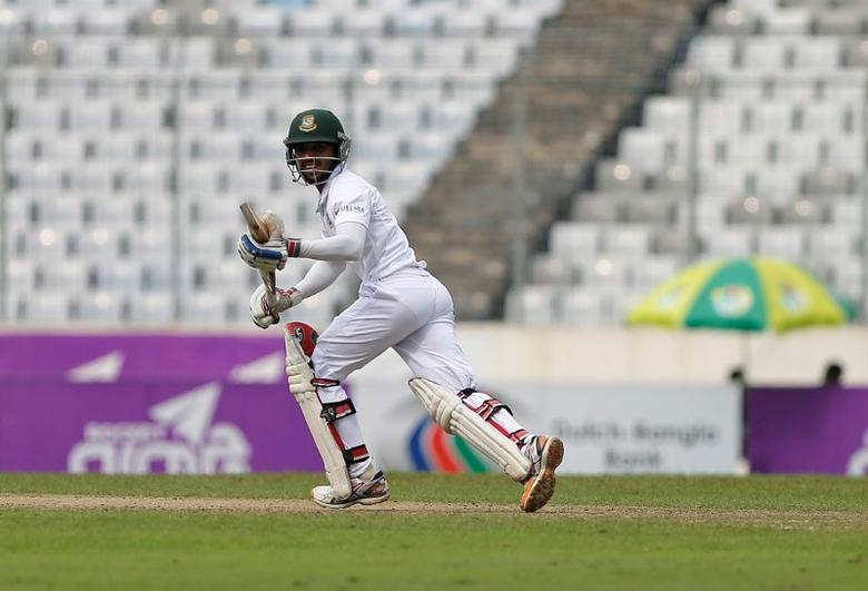 Bangladesh's Mominul Haque runs after playing a shot.  REUTERS/Mohammad Ponir Hossain