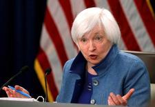 Chair do Federal Reserve, banco central dos EUA, Janet Yellen.      14/12/2016        REUTERS/Gary Cameron/File Photo