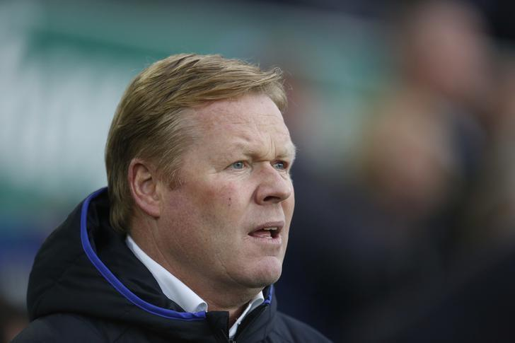 Britain Football Soccer - Everton v Leicester City - FA Cup Third Round - Goodison Park - 7/1/17 Everton manager Ronald Koeman before the game Action Images via Reuters / Ed Sykes Livepic