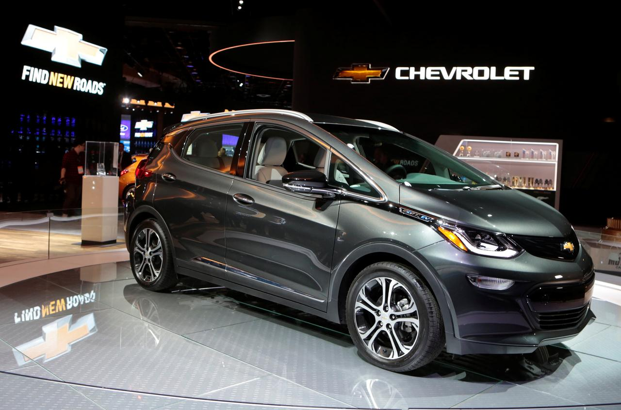 file photo a 2018 chevrolet bolt ev is displayed during the north american international auto show in detroit michigan us january 9 2017