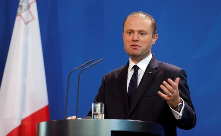 Malta's Prime Minister Joseph Muscat addresses a news conference after talks with German Chancellor Angela Merkel at the chancellery in Berlin, Germany, November 29, 2016. REUTERS/Hannibal Hanschke