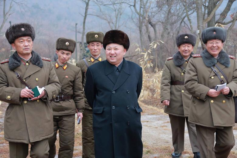 North Korean leader Kim Jong Un inspects a sub-unit under KPA Unit 233, in this undated photo released by North Korea's Korean Central News Agency (KCNA) in Pyongyang January 19, 2017. KCNA/via Reuters
