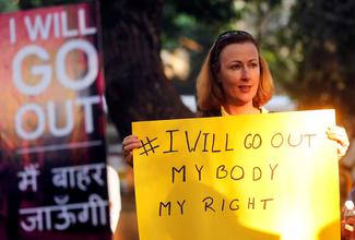 #IWillGoOut rallies in India