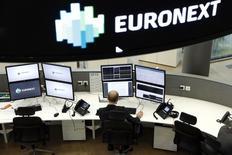 Les Bourses européennes ont ouvert en petite hausse mardi. A Paris, l'indice CAC 40  prend 0,09%. À Francfort, le Dax avance également de 0,09% et, à Londres, le FTSE gagne 0,11%. /Photo d'archives/REUTERS/Benoit Tessier