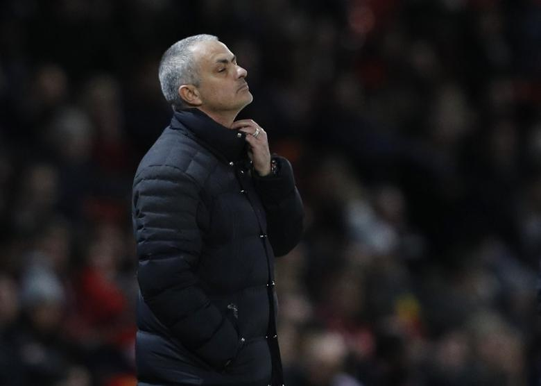 Britain Soccer Football - Manchester United v Hull City - Premier League - Old Trafford - 1/2/17 Manchester United manager Jose Mourinho looks dejected  Reuters / Phil Noble Livepic
