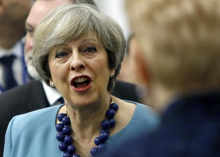British Prime Minister Theresa May attends the European Union leaders summit in Valletta, Malta, February 3, 2017.    REUTERS/Darrin Zammit-Lupi