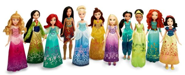 Disney Princess Royal Shimmer Dolls are seen in this undated handout photo provided by Hasbro. REUTERS/Hasbro/Handout via Reuters