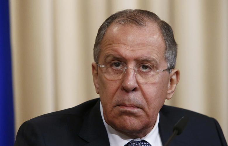 Russian Foreign Minister Sergei Lavrov attends a joint news conference following a meeting with his Afghan counterpart Salahuddin Rabbani in Moscow, Russia February 7, 2017.  REUTERS/Sergei Karpukhin
