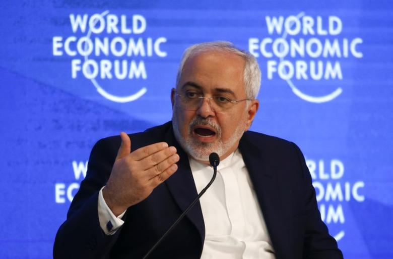 Javad Zarif, Minister of Foreign Affairs of the Islamic Republic of Iran attends the annual meeting of the World Economic Forum (WEF) in Davos, Switzerland, January 18, 2017. REUTERS/Ruben Sprich