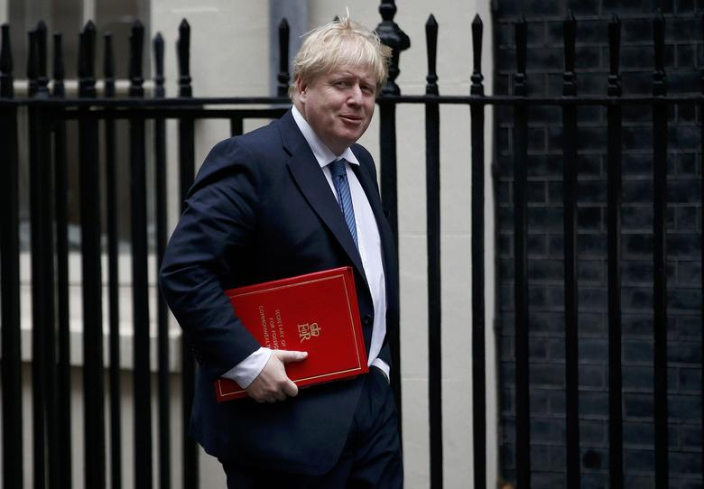 Britain's Foreign Secretary Boris Johnson arrives for a cabinet meeting in Downing Street, London, January 31, 2017. REUTERS/Peter Nicholls