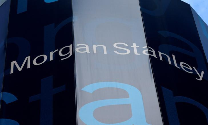 The corporate logo of financial firm Morgan Stanley is pictured on the company's world headquarters in New York, New York, U.S. on January 20, 2015.    REUTERS/Mike Segar/File Photo