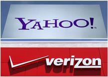 Verizon Communications se rapproche d'un accord avec Yahoo pour lui racheter ses activités internet à un prix revu à la baisse, de l'ordre de 250 à 350 millions de dollars, par rapport au montant initialement fixé à 4,83 milliards de dollars. /Photo d'archives/REUTERS