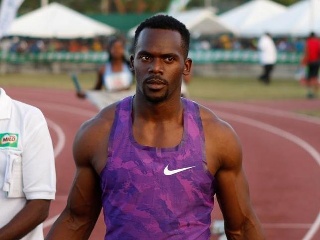 2月16日、ドーピングの再検査で興奮作用のあるメチルヘキサンアミンに陽性反応を示し、2008年北京五輪の陸上男子400メートルリレーの金メダルを剥奪されたジャマイカのネスタ・カーター(写真)が処分を不服としてスポーツ仲裁裁判所(CAS)に提訴した。11日撮影(2017年 ロイター/Gilbert Bellamy)