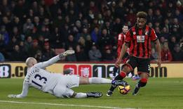 Manchester City's Willy Caballero saves from Bournemouth's Jordon Ibe  Action Images via Reuters / Matthew Childs Livepic